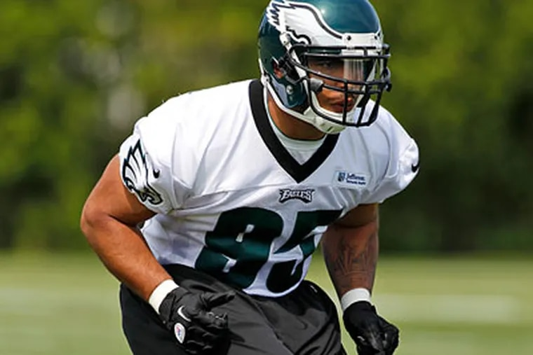 Second-round draft pick Mychal Kendricks will have to compete with Jamar Chaney for a starting job. (Alex Brandon/AP Photo)