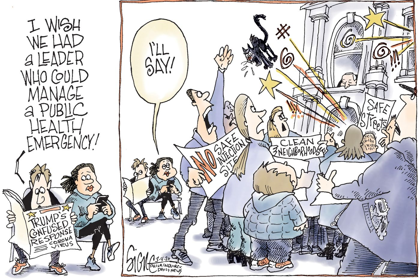 Political Cartoon: Philadelphia's mayor manages a health emergency