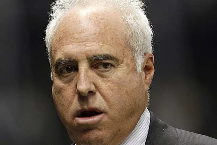Eagles owner Jeffrey Lurie walks in the Superdome on Monday November 5, 2012. (Yong Kim/Staff Photographer)