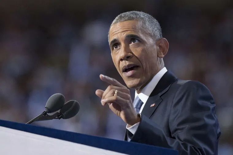 President Barack Obama spoke at the Democratic National Convention the night the protesters breached a fence.