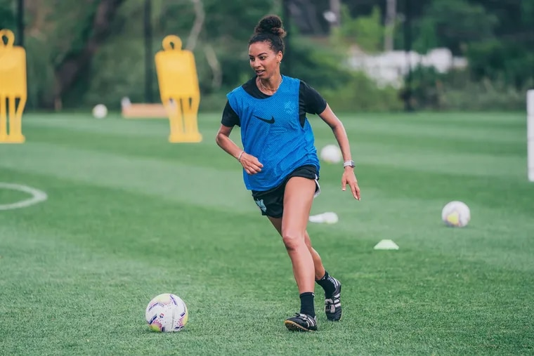 Estelle Johnson is beginning her third season with Gotham FC, the northern New Jersey-based NWSL team formerly known as Sky Blue FC.