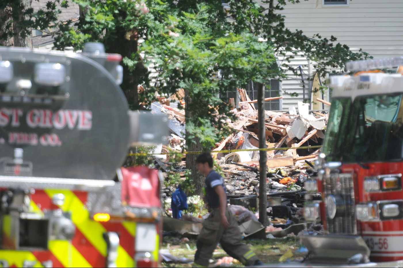 Two dead in New Jersey house explosion: 'It was a huge ball of fire'