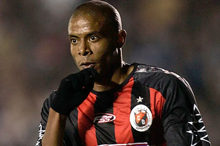 Lionard Pajoy is the current leading scorer in Colombia's first division with 10 goals in 18 matches. (AP file photo)