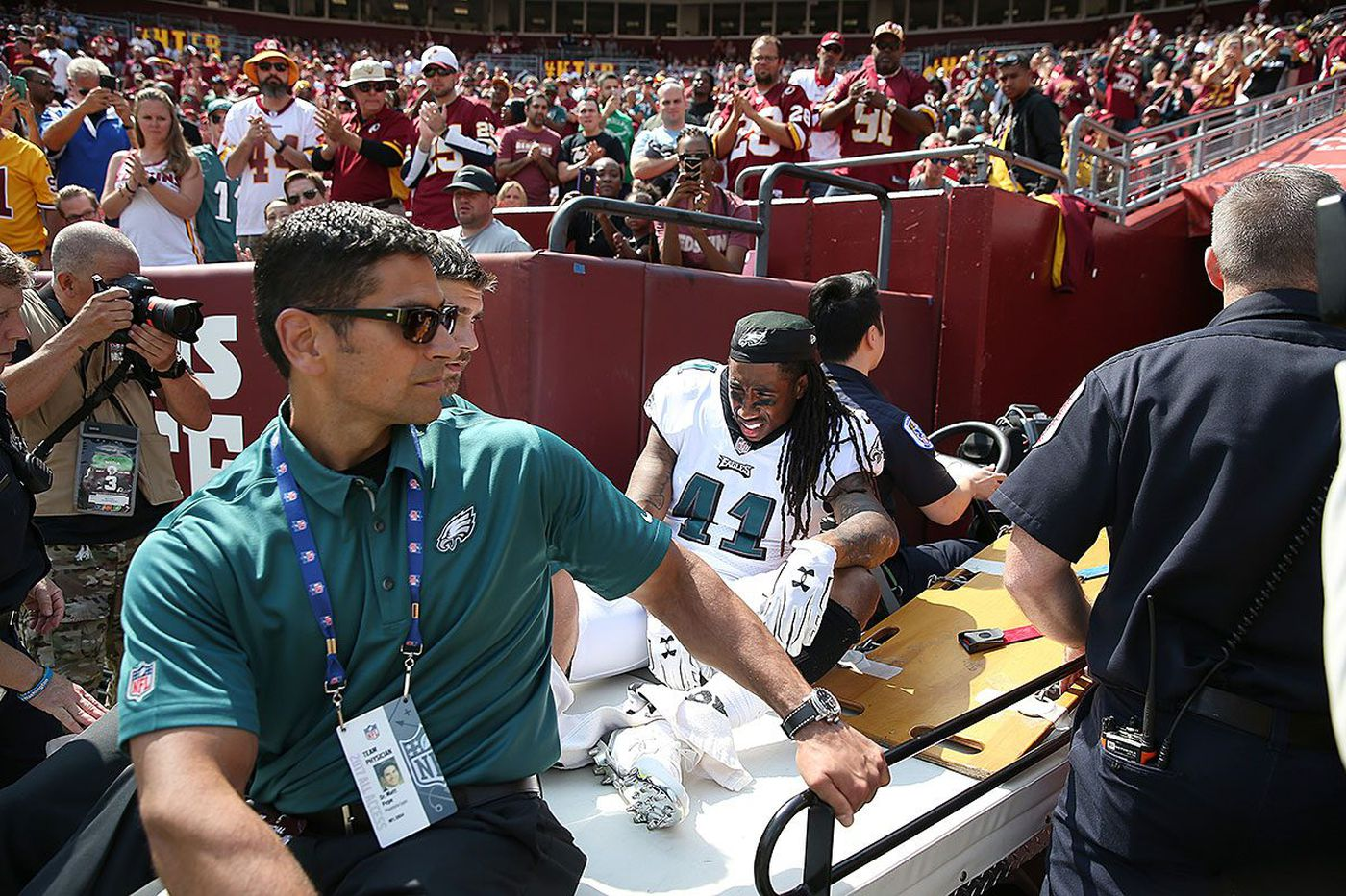 Eagles' Ronald Darby says he'll return swiftly from ankle dislocation