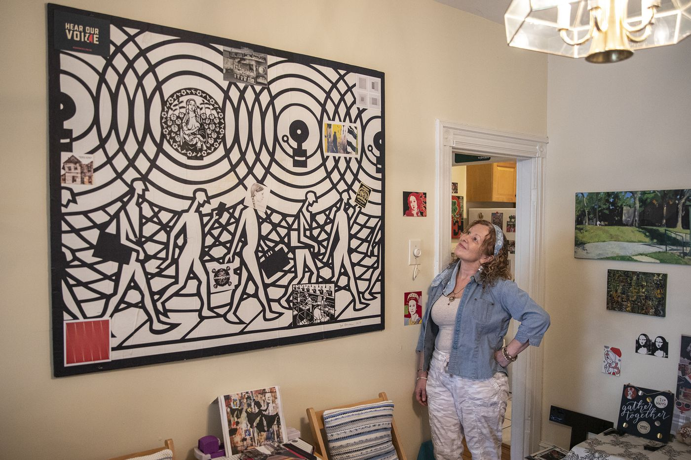 Admirer of local and ethnic art assembles an eclectic collection in Philly home