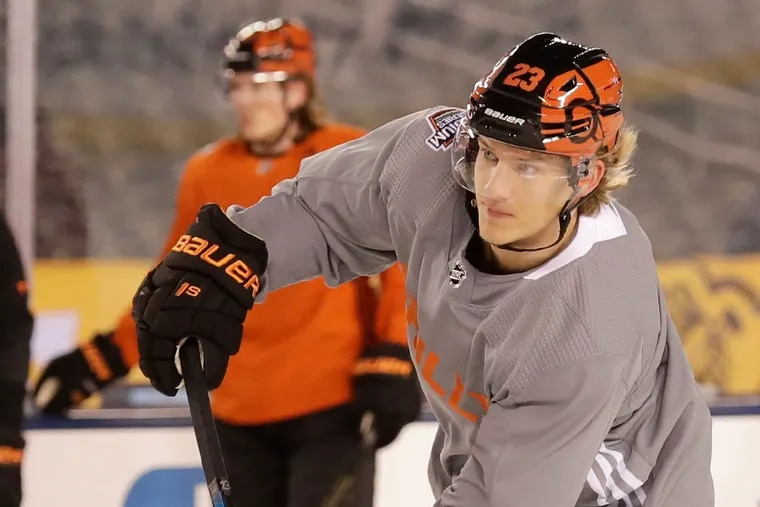 Flyers left winger Oskar Lindblom is battling a rare form of bone cancer. He blossomed into one of the Flyers' best all-around players this season.