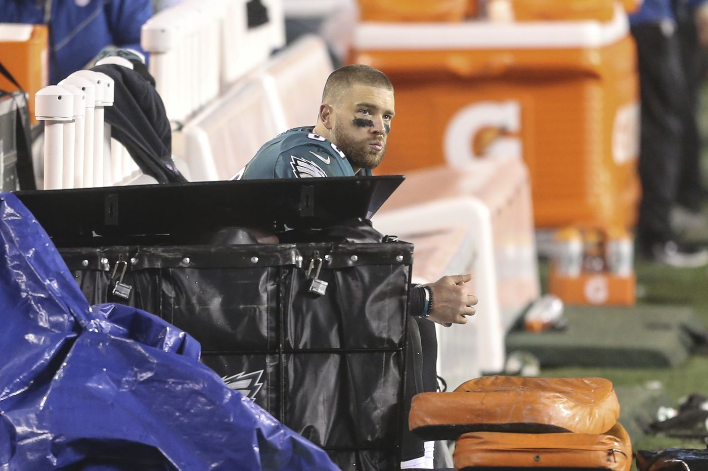 Eagles tight end Zach Ertz gets emotional in what may be his farewell to Philly fans