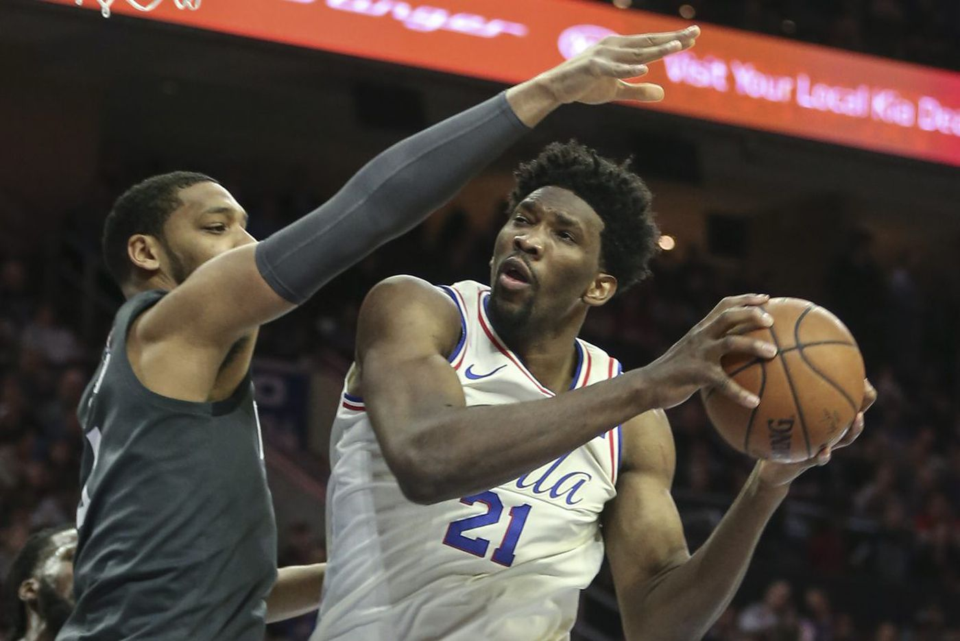 Sixers center Joel Embiid still miles away from reaching his potential
