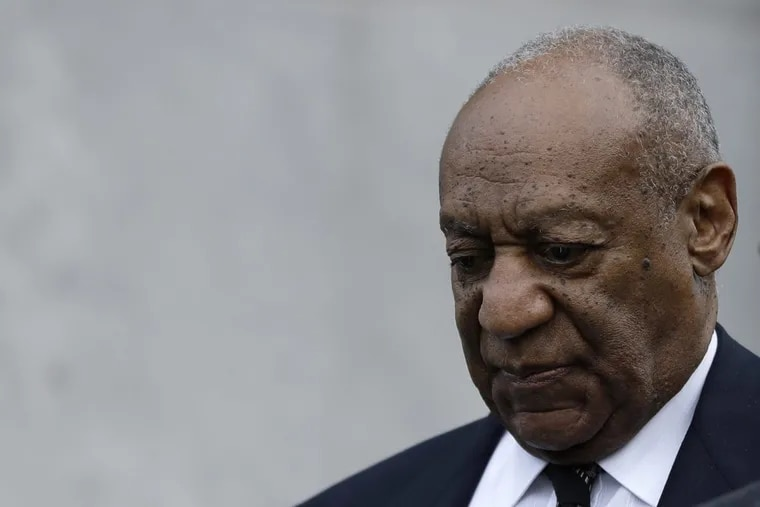 Bill Cosby departs the Montgomery County Courhouse after the sixth day of testimony in his sexual assault retrial on Monday, April 16, 2018.