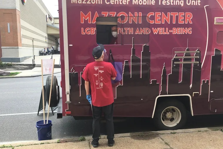 The Mazzoni Center has been distributing at-home HIV tests via its mobile testing unit.