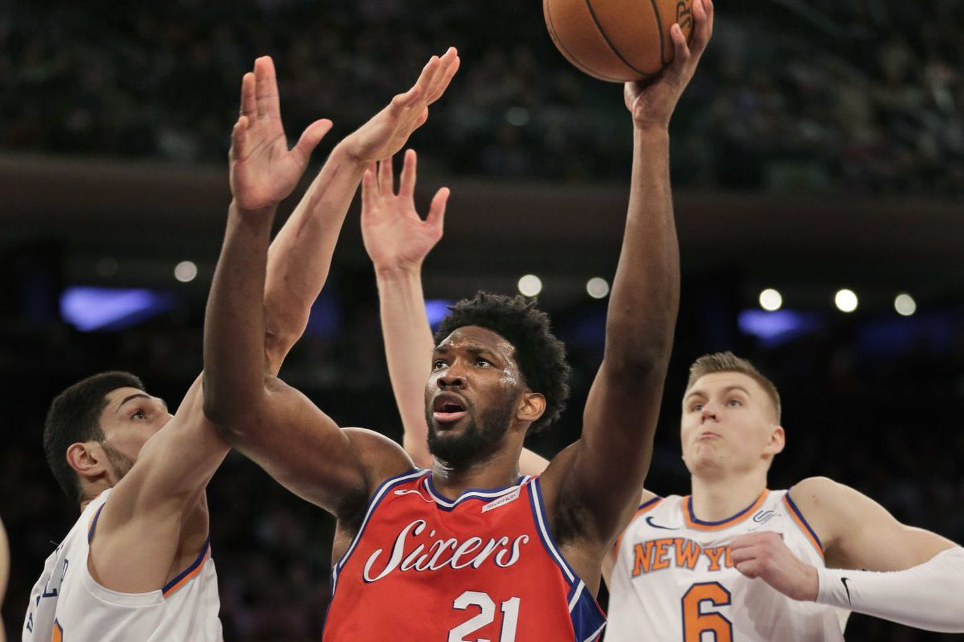 Joel Embiid's 25 points, 16 rebounds lead Sixers to 105-98 victory over Knicks