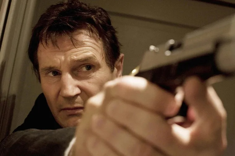 In Taken, Liam Neeson stars as Bryan Mills, an ex-CIA agent who has less than four days to find his daughter, who has been kidnapped in Paris.