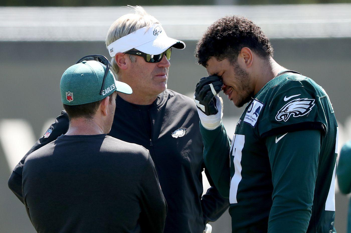 Eagles practice observations: Andre Dillard and Derek Barnett tussle as dog days heat up