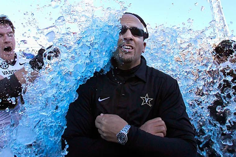 Vanderbilt coach James Franklin (AP Photo/Butch Dill).