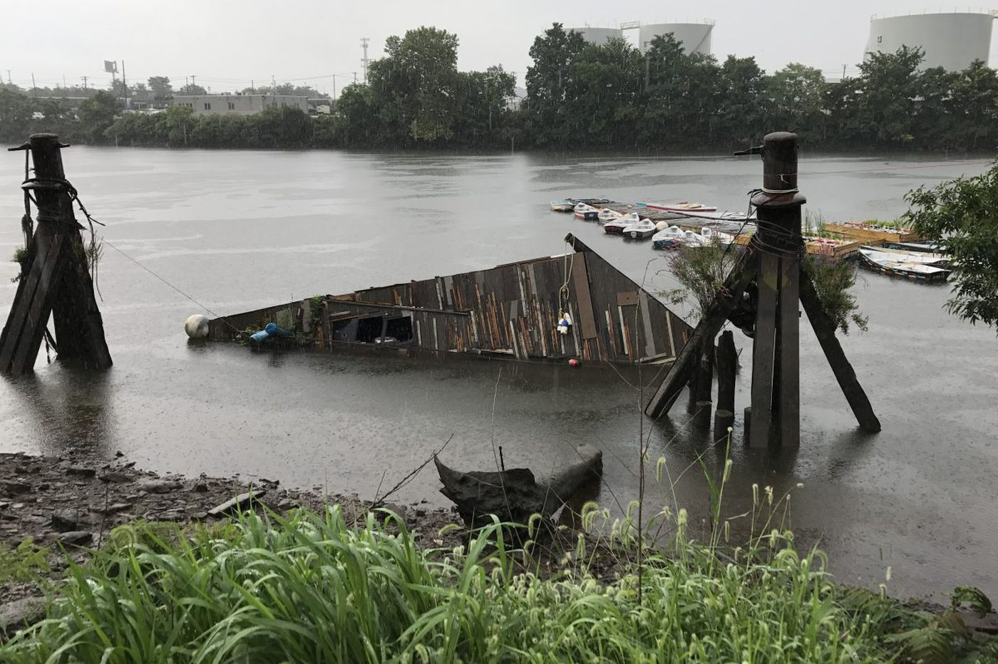 WetLand, an artwork about rising waters, sinks in the Schuylkill
