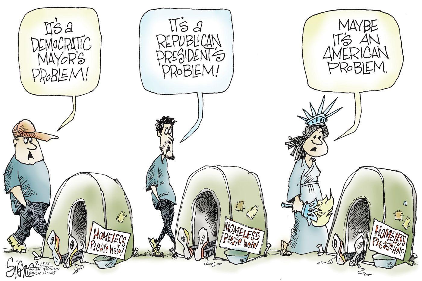 Political Cartoon: America's homelessness problem