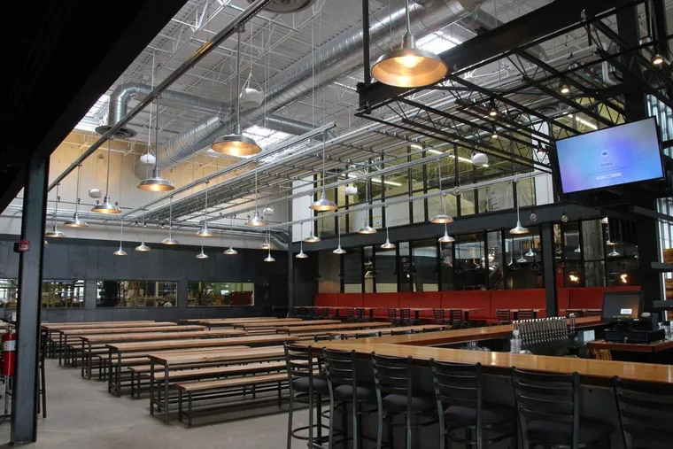 Dining room at Yards Brewery & Taproom, 500 Spring Garden St.