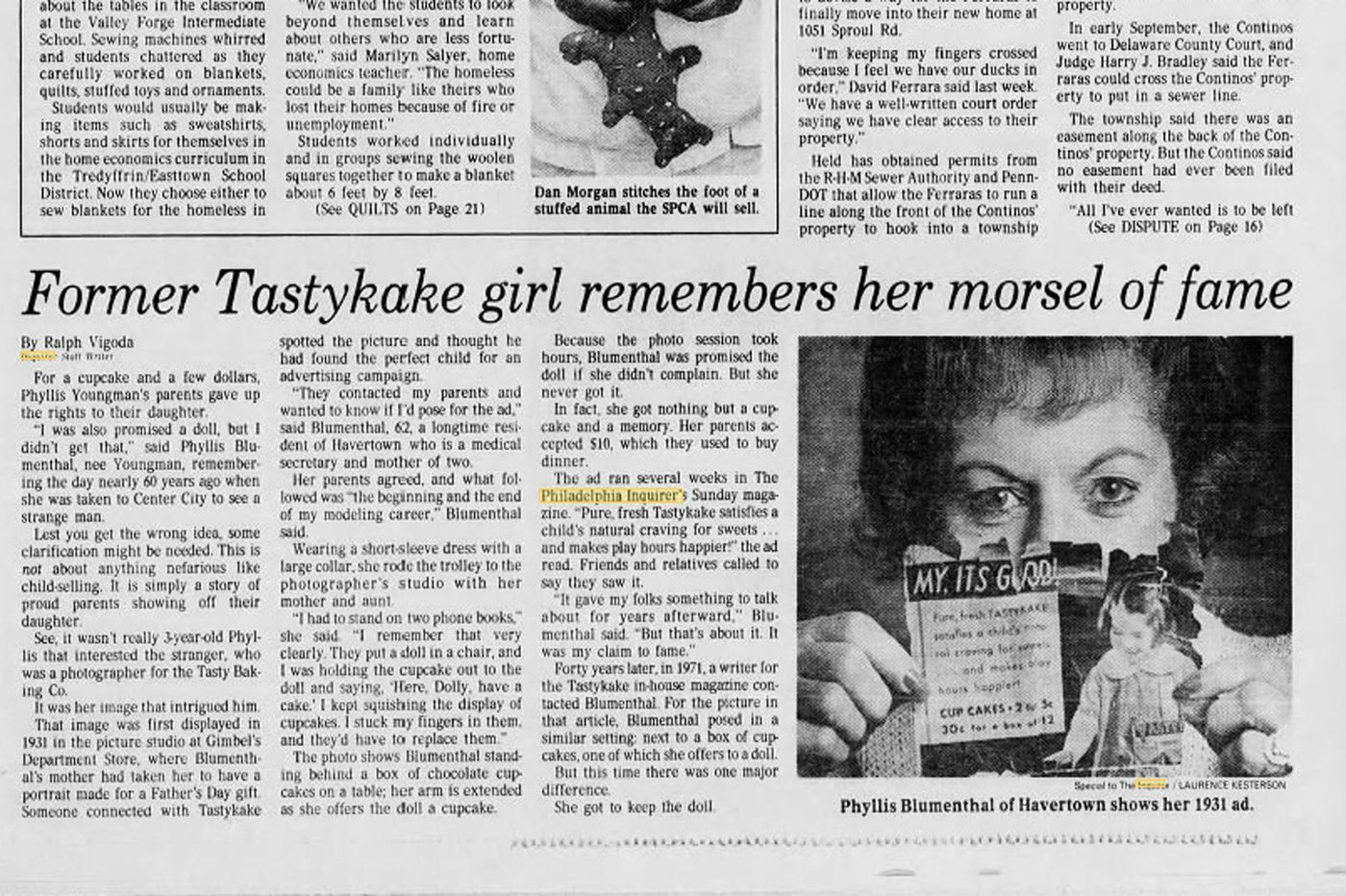 UpSide Classic: Tastykake promised the child model a doll for posing for photos. She didn't get it.