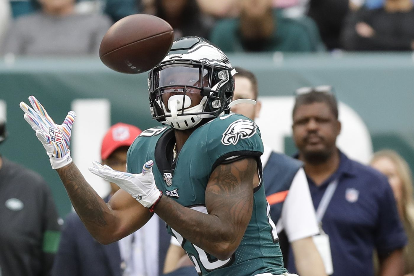 Miles Sanders, a rookie running back, has become the Eagles' most dangerous deep threat