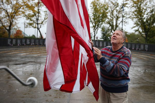 For three decades, one man, now 75, has cared for Philly's Vietnam and Korean War memorials