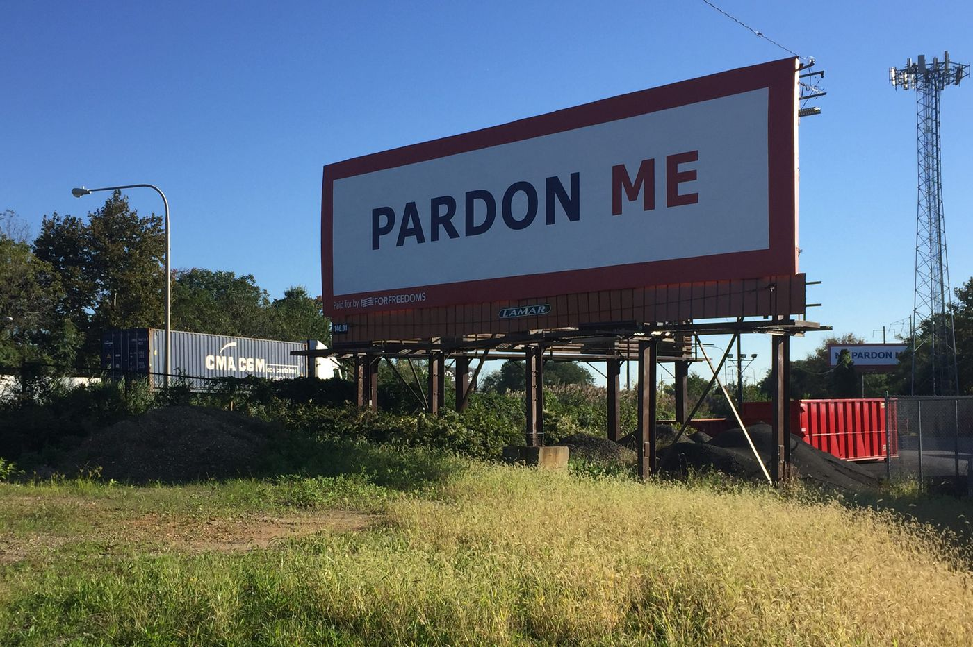 Those odd billboards on I-95 at Academy Road are part of a huge national art project