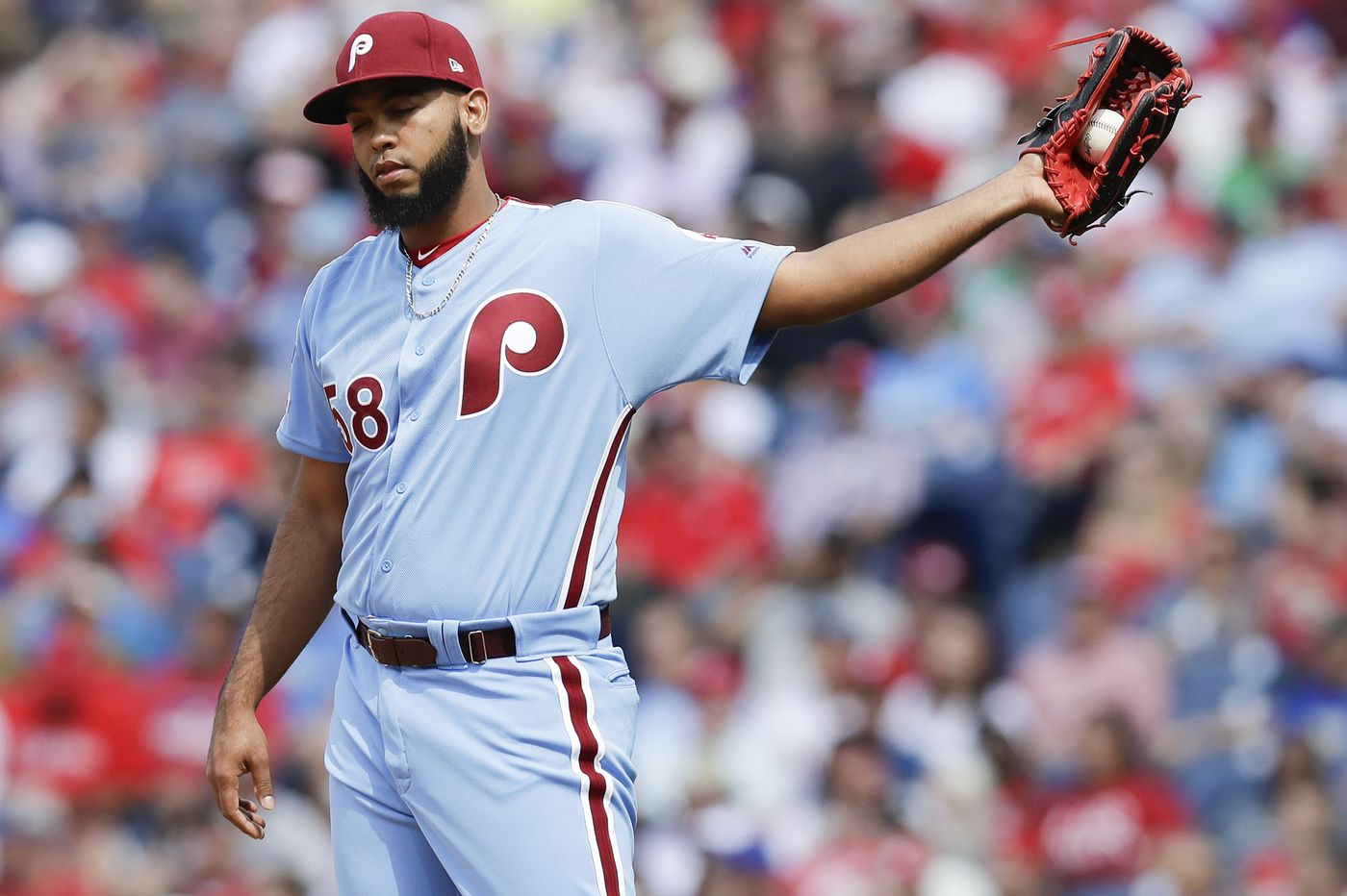 Seranthony Dominguez (remember him?) could be the bullpen upgrade the Phillies need. But will he get healthy? | Scott Lauber