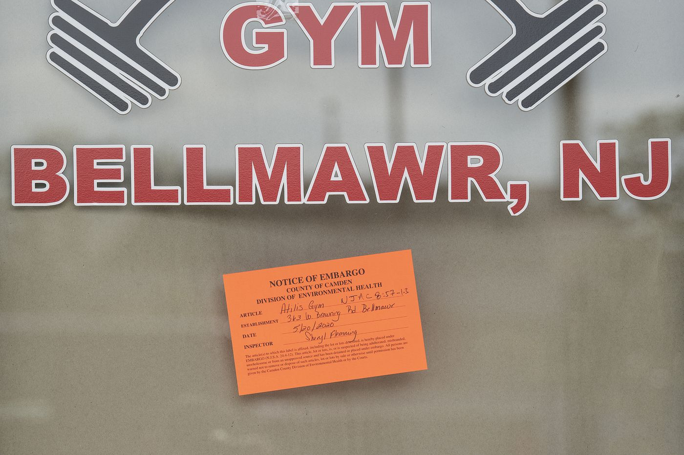 Atilis Gym in Bellmawr closed by state Health Department after reopening against Gov. Murphy's orders