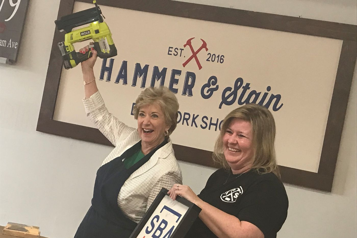 Small Business Administration chief Linda McMahon is Trump's happy wrestler
