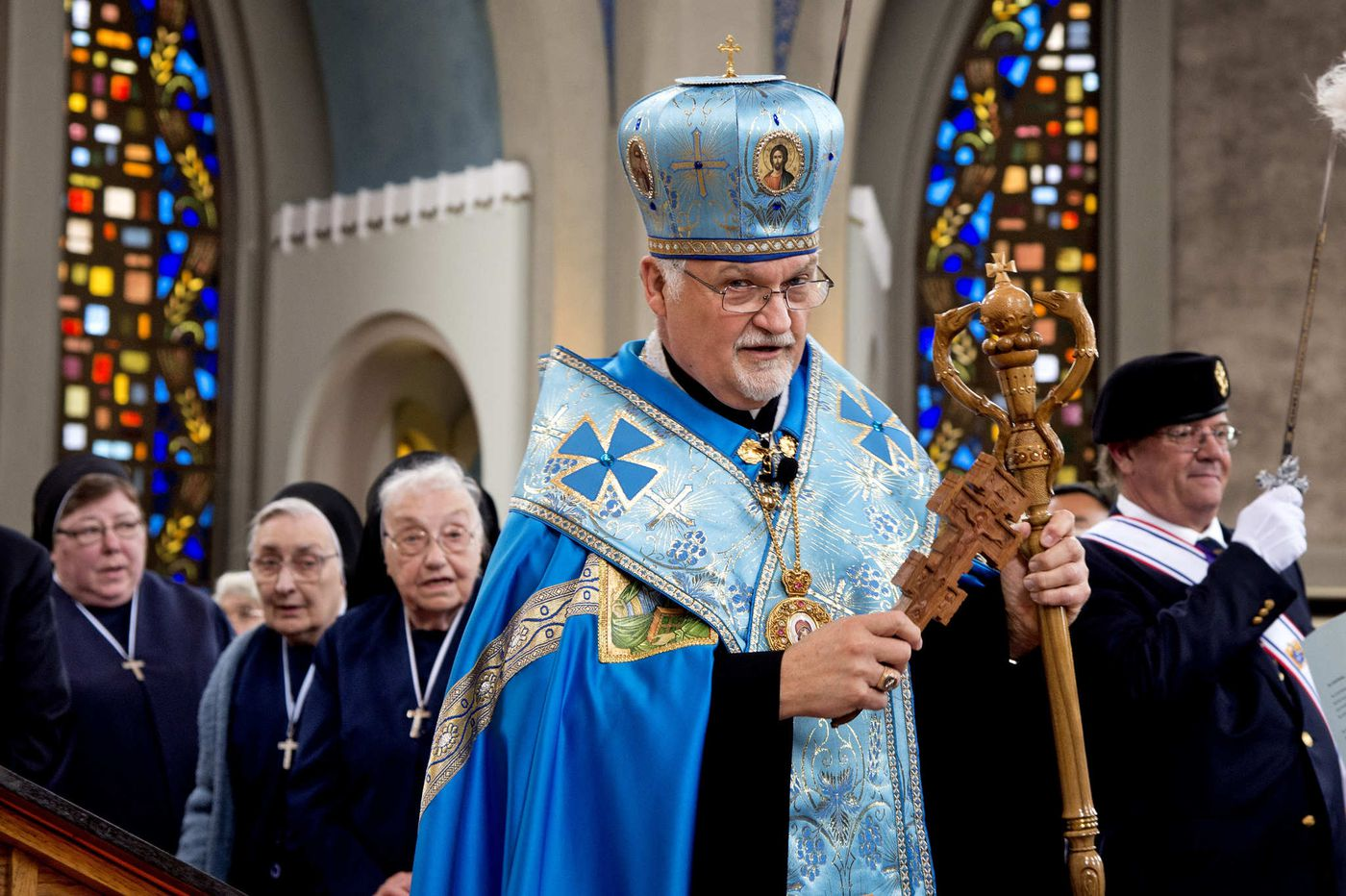 The archbishop of the Ukrainian Catholic Church in Philadelphia retires and goes home