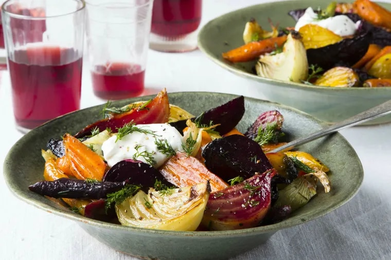 """Vegetarian borscht salad from Kristin Donnelly's new book, """"Modern Potluck."""""""