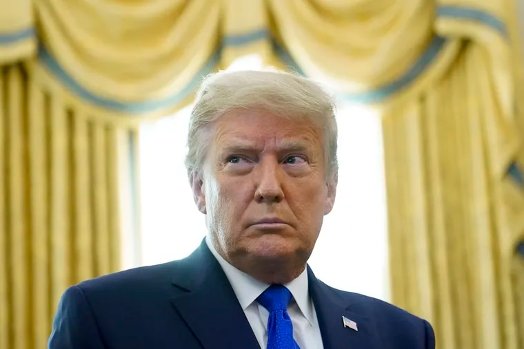 President Donald Trump, photographed Monday in Oval Office of the White House in Washington.