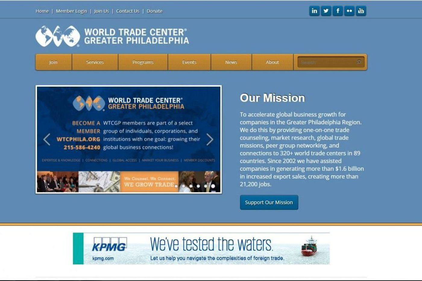 World Trade Center gets $1M grant from U.S. Commerce Dept.