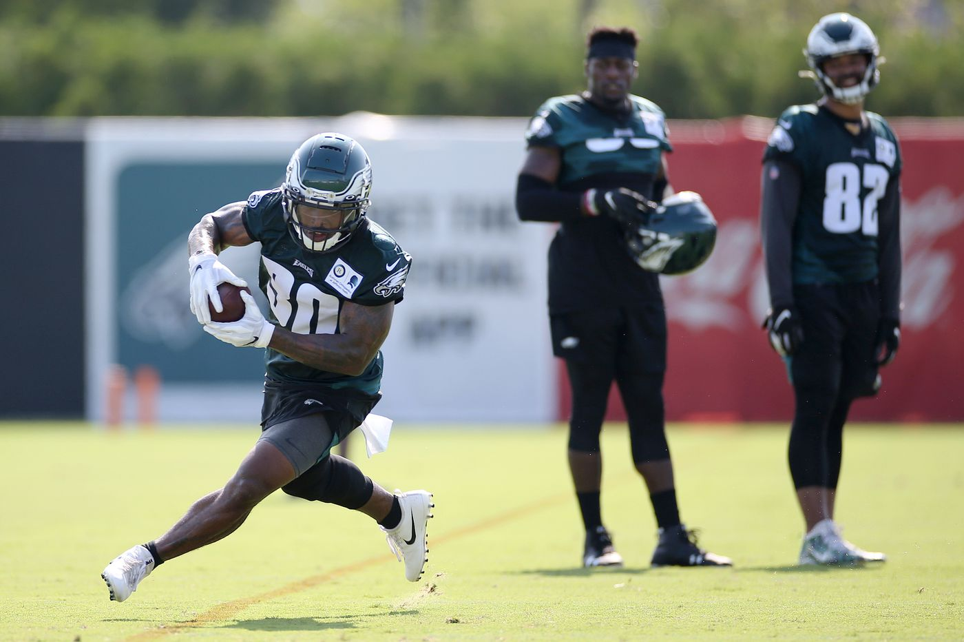 Eagles running back Corey Clement returns to 7-on-7 in training camp