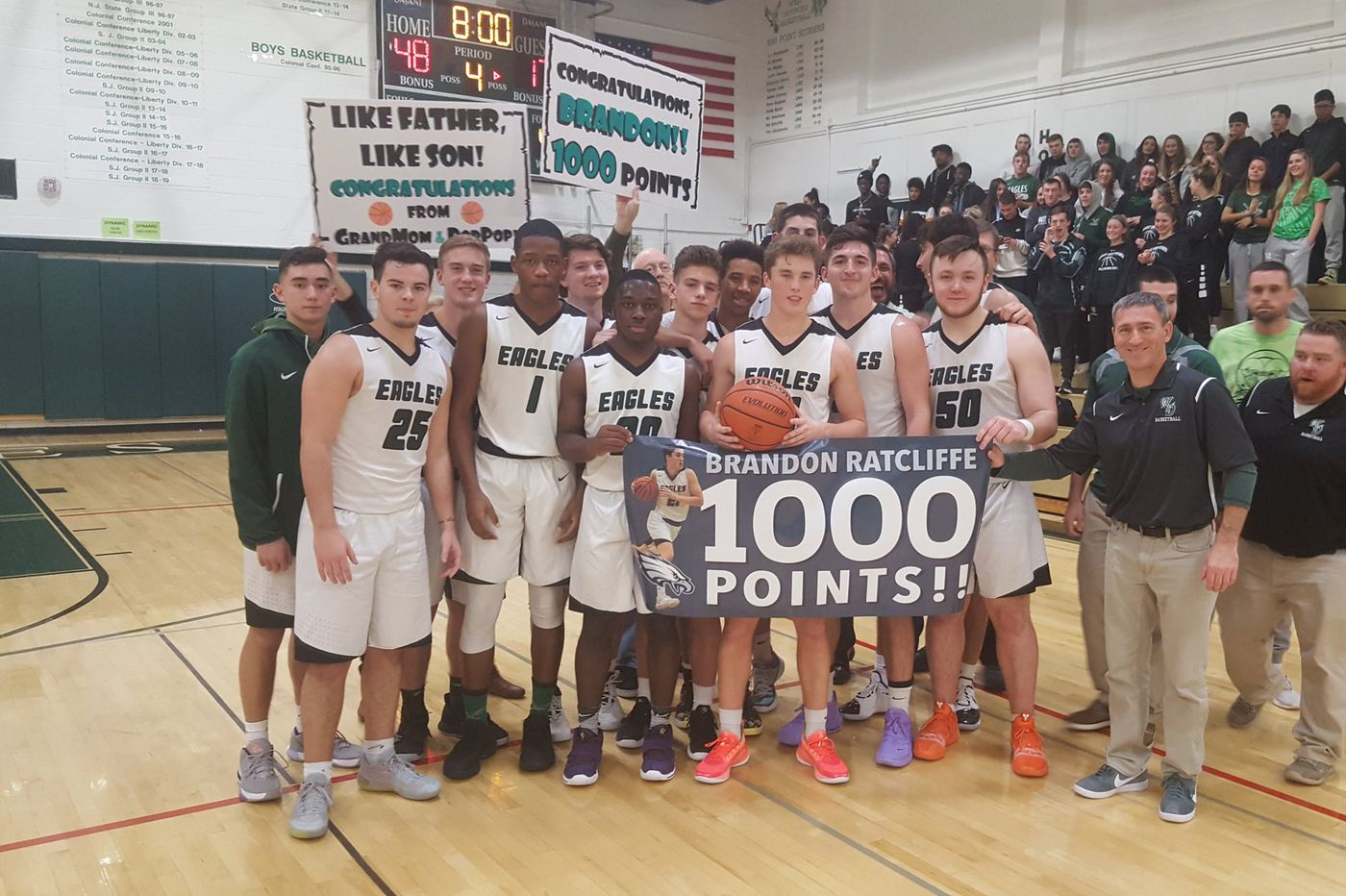 Monday's South Jersey roundup: Brandon Ratcliffe scores 1,000th career point in West Deptford's win over Audubon