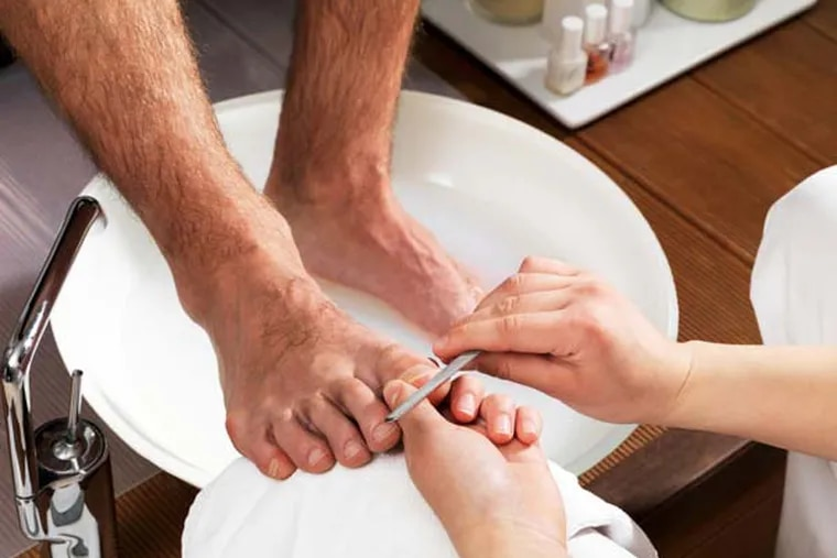 The manly pedicure.