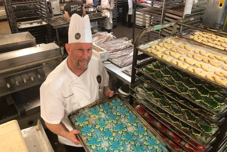 Robert Bennett in the bakery at Classic Cake Co. in the lower Northeast.