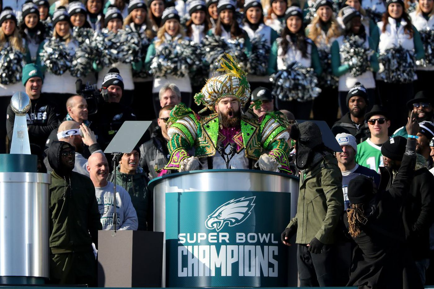 Jason Kelce's speech at Eagles parade connects with passion, sincerity | Marcus Hayes