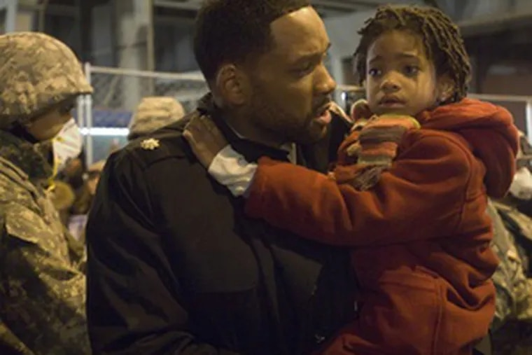 Will Smith and his daughter, Willow, making her film debut as Marley. Smith, as the scientist Neville, searches for a cure for the deadly virus.