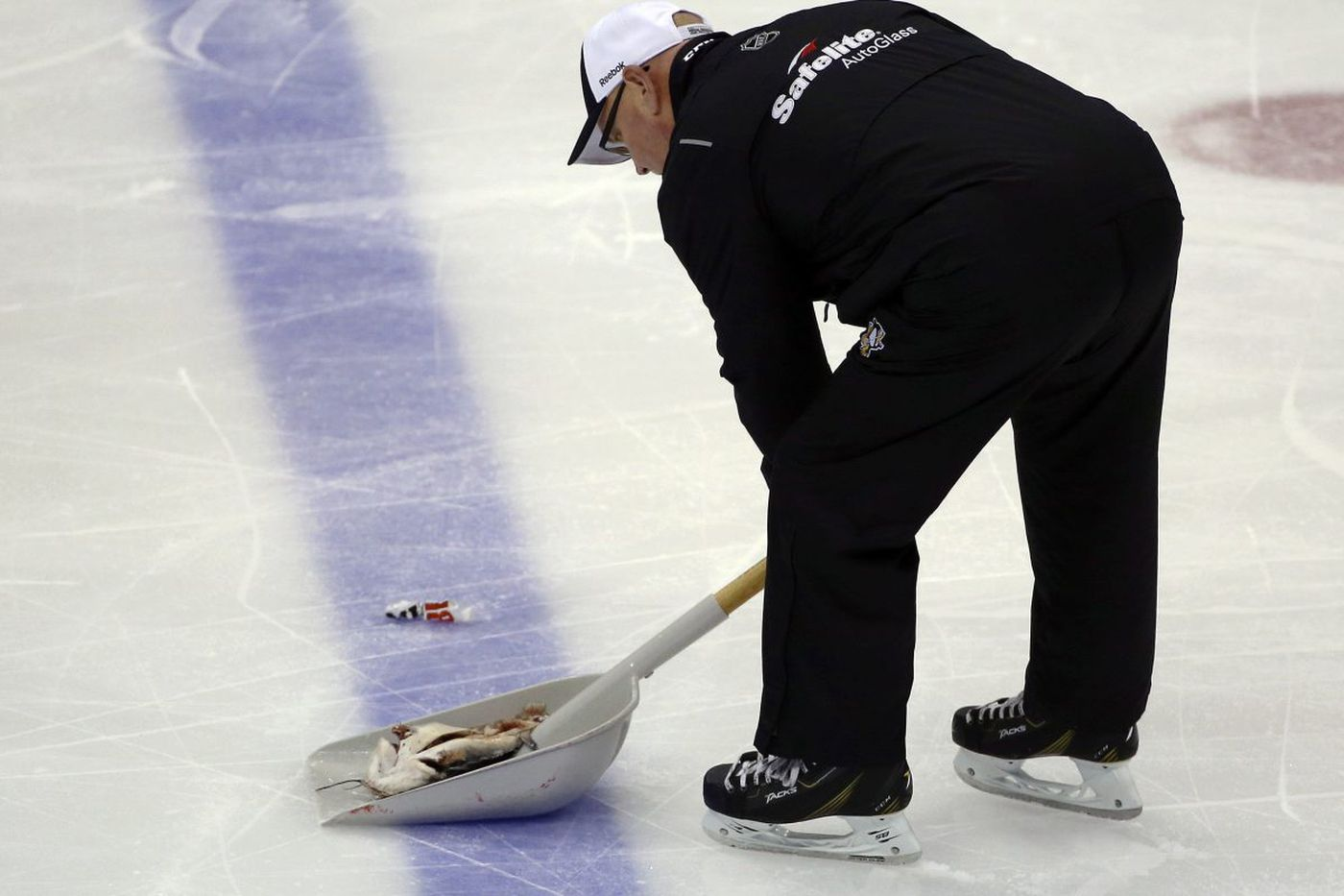 Fan smuggles catfish into Stanley Cup game in his shorts, tosses it on ice
