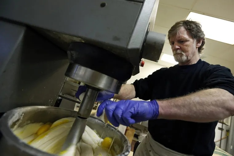 Masterpiece Cakeshop owner Jack Phillips inside his store in Lakewood, Colo.