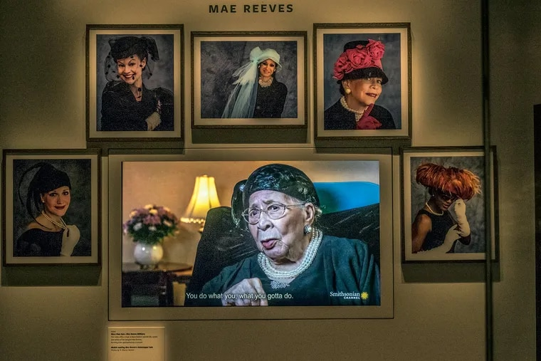 An exhibit at the National Museum of African American History and Culture in Washington honors Mae Reeves and her West Philadelphia hat shop.