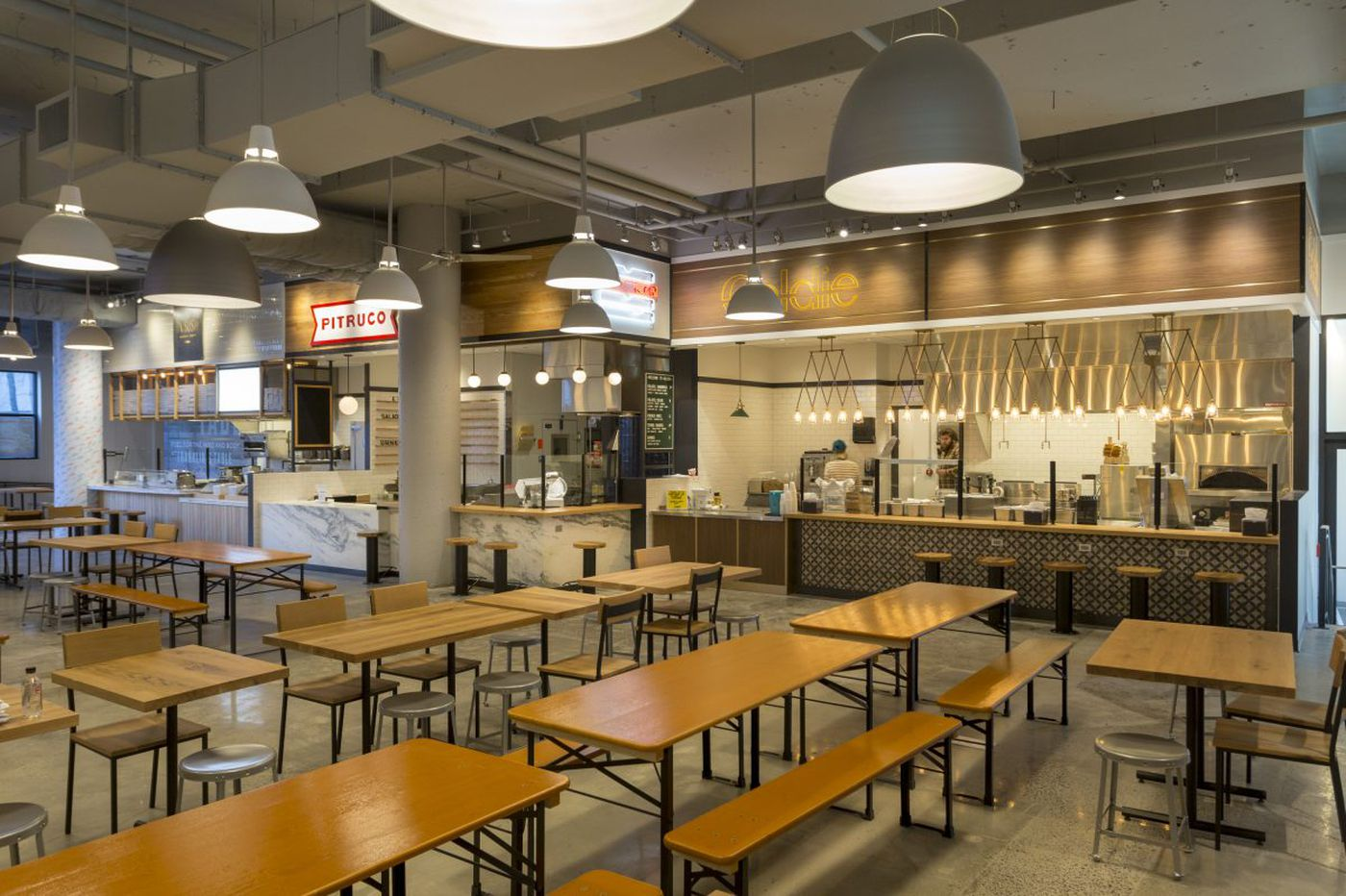 Now Open Franklins Table Food Hall At Penn