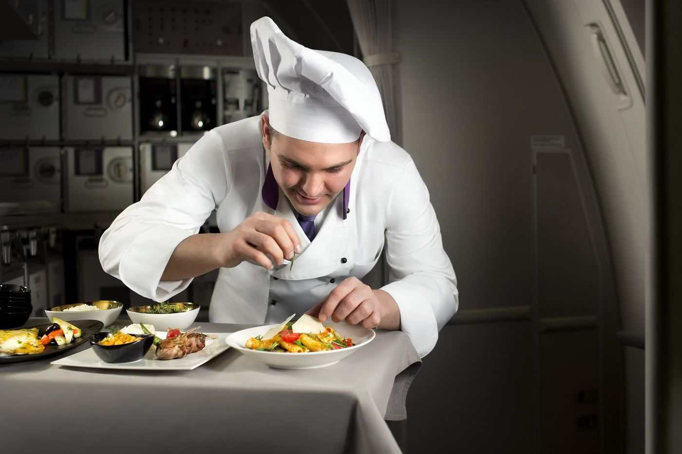 'Flying chefs' in business class