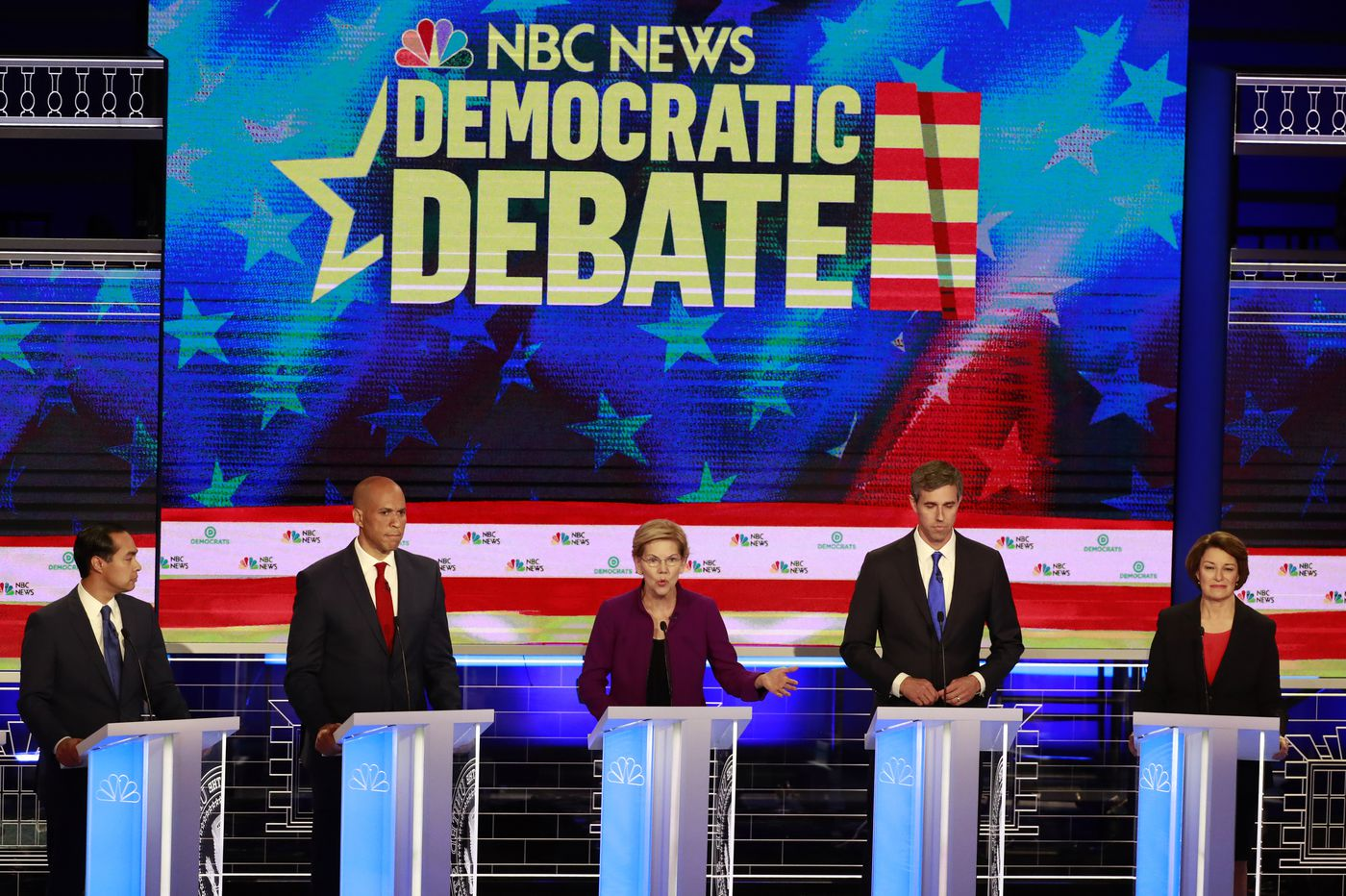 Democrats stake out stands on economy and immigration, clash on health care in first presidential debate