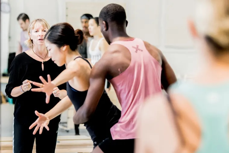 Marguerite Donlon (at left) choreographing BalletX