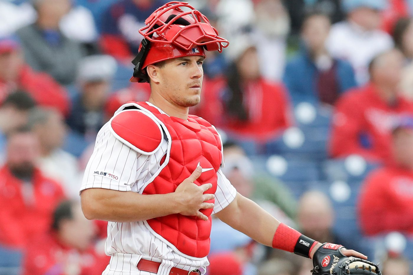 New Phillies boss Dave Dombrowski speaks with J.T. Realmuto's agent
