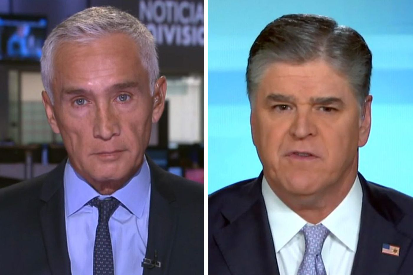 Univision's Jorge Ramos tells Sean Hannity he's lying to his Fox News viewers