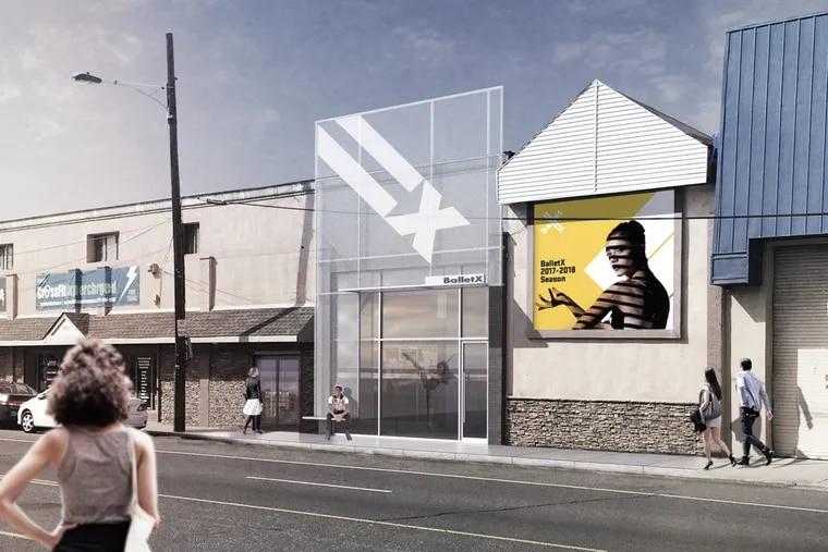 BalletX will break ground next Tuesday on a new studio, the Center for World Premiere Choreography, at 1923 Washington Ave. (Artist's rendering by ISA)