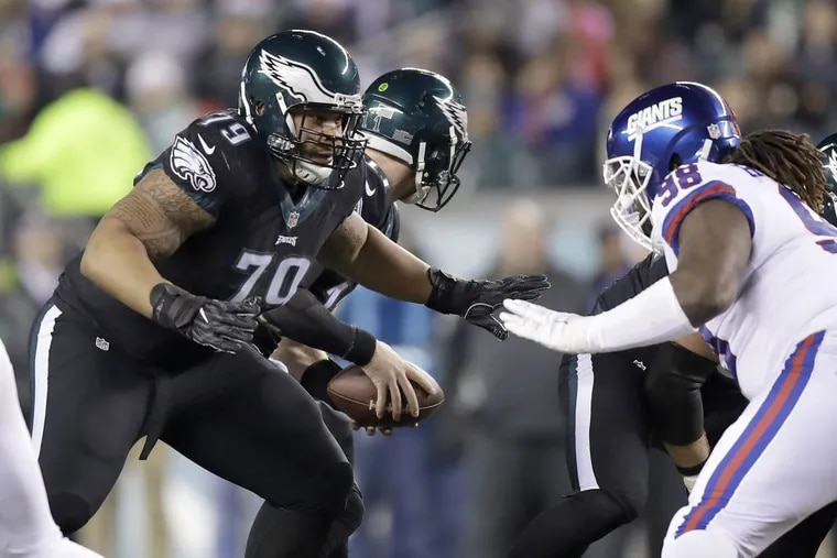 Philadelphia Eagles offensive lineman Brandon Brooks (79) is going to the Pro Bowl for the first time in his career.