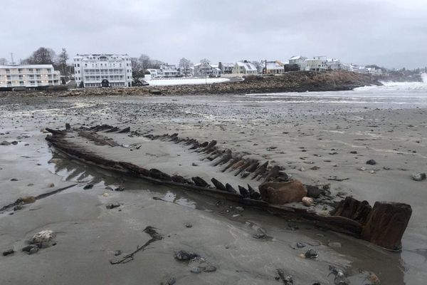 Nor'easter winds reveal a surprising beach discovery: The remains of a Revolutionary War-era ship